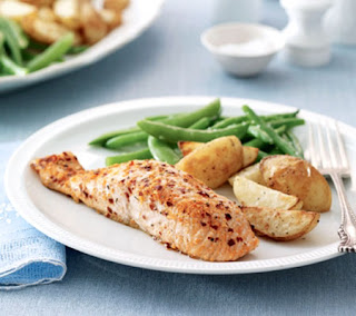 roasted salmon with green beans recipe