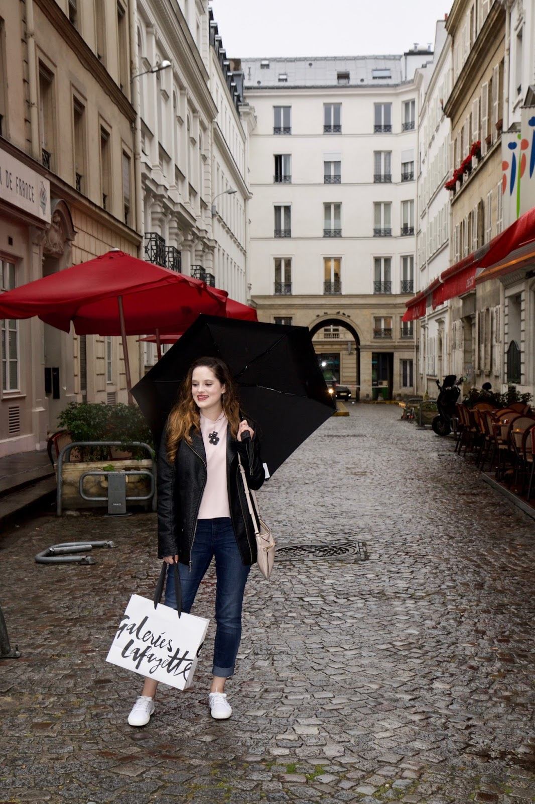 Fashion blogger Kathleen Harper's street style in Paris France