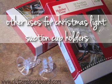 Other household uses for Christmas light holders