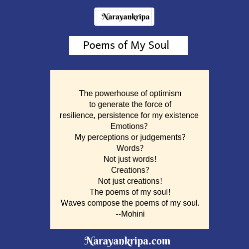 Text Image for the poem the poems of my soul