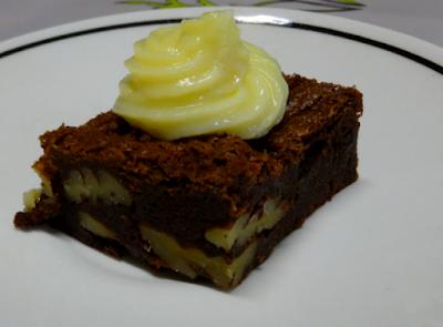 pâtisserie dessert brownie fondant noix de pécan chocolat
