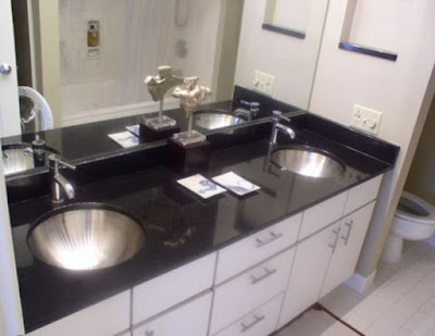 white bathroom vanity with black granite top kitchen benchtops melbourne expert simple benchtops how 26304