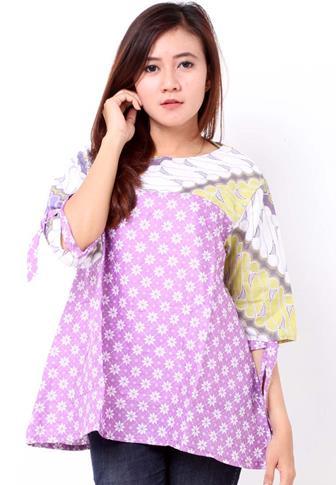 Contoh Model Blouse Batik Untuk ABG