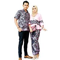 Kebaya Batik Couple Modern Batik Pasangan Muslim SBRG143