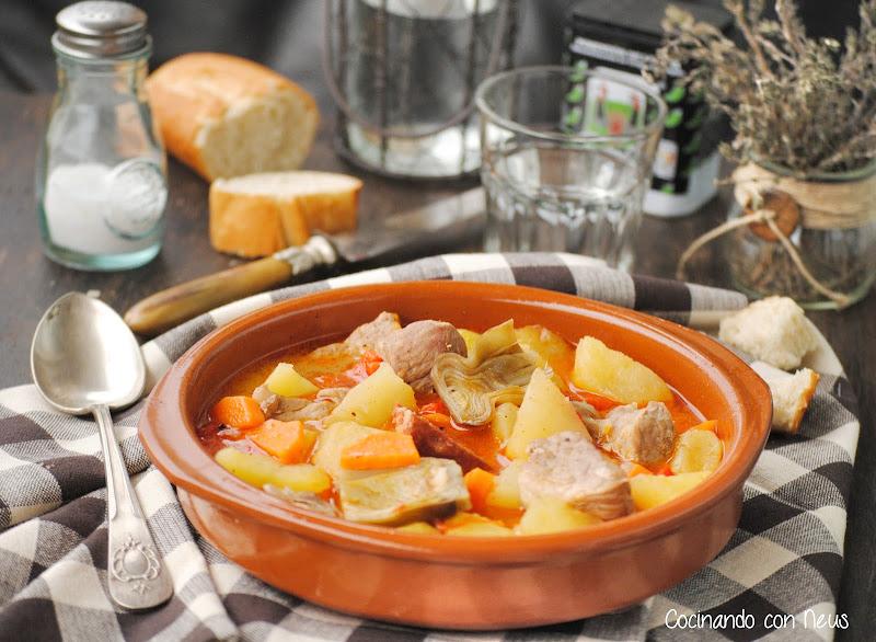 Guiso de costillas con verduras y caldo natural Aneto-cocinando-con-neus