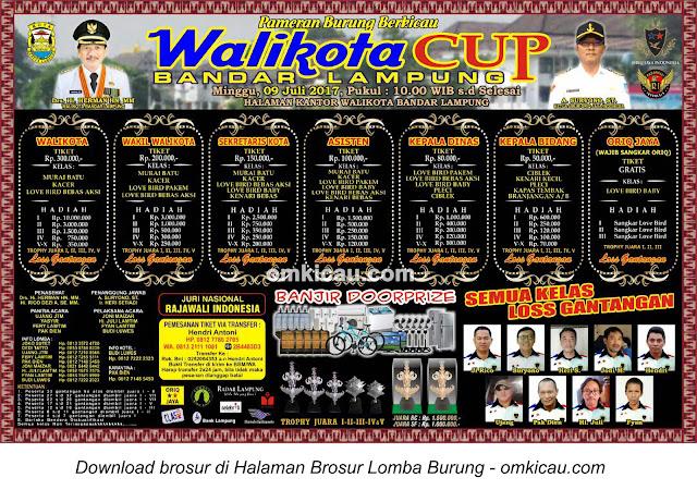 Lomba Burung Berkicau Wali Kota Cup, Bandar Lampung, 9 Juli 2017