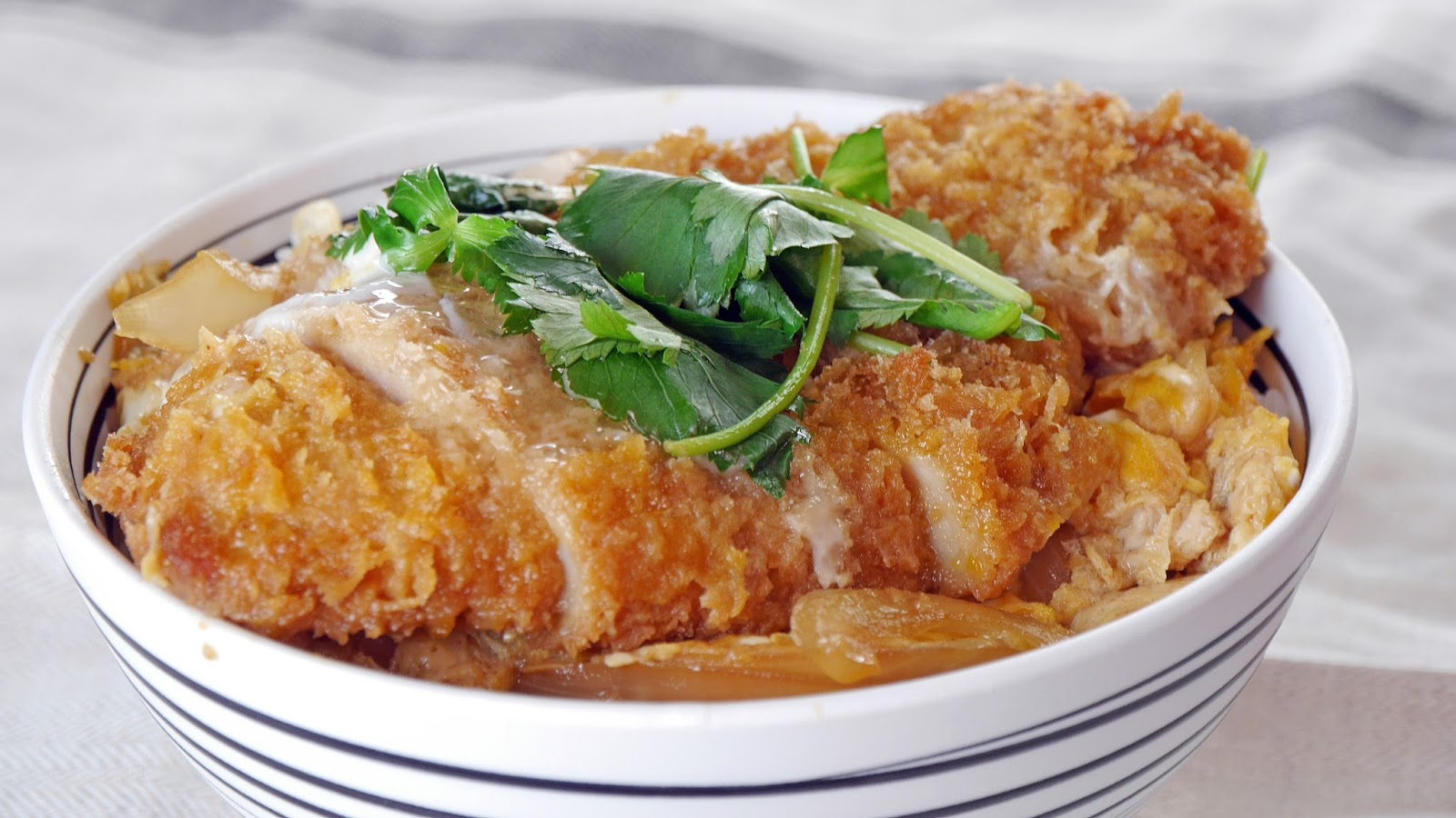 TabiEats: How to Make Katsudon-Pork Tonkatsu Rice Bowl Recipe