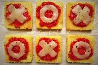 pizzette a base di polenta