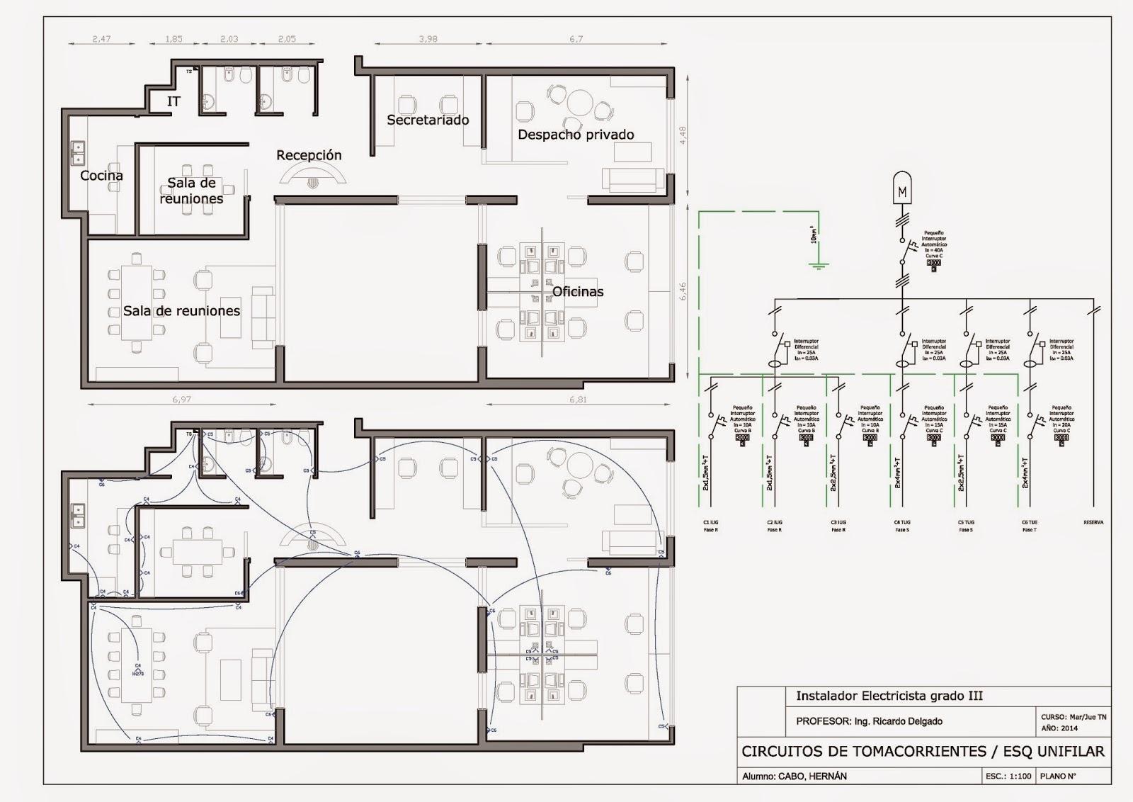Detalles constructivos cad instalaci n el ctrica para for Plano instalacion electrica