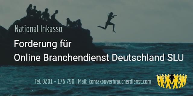 Titelbild: National Inkasso fordert für Online Branchendienst Deutschland SLU