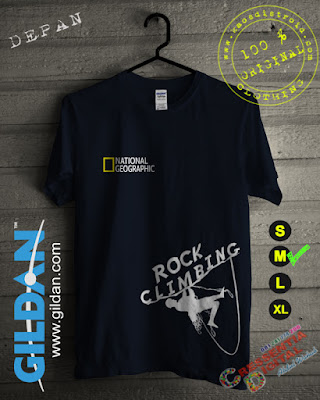 Baju Kaos National Geographic Rock Climbing Warna Navy