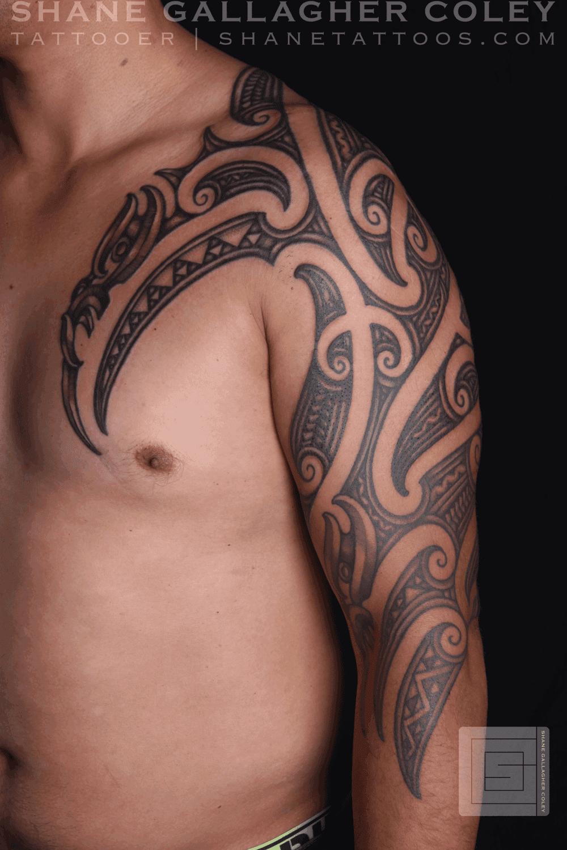 b121799c1 SHANE TATTOOS: Maori Sleeve Chest Tattoo, Ta Moko