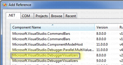 Custom Debugger Visualizer
