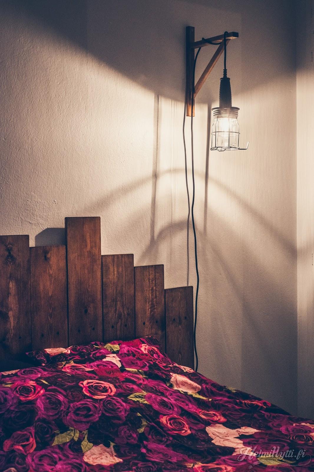 id diy roikkalamppu lukulamppu sängynpääty sisustus