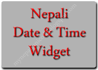 Free Nepali Date and Time Widgets