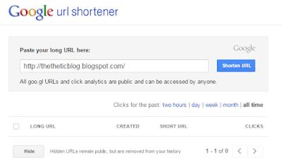 Using google url shortener
