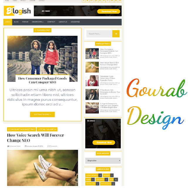 Blogish Blogger Template-High Quality Professional Theme