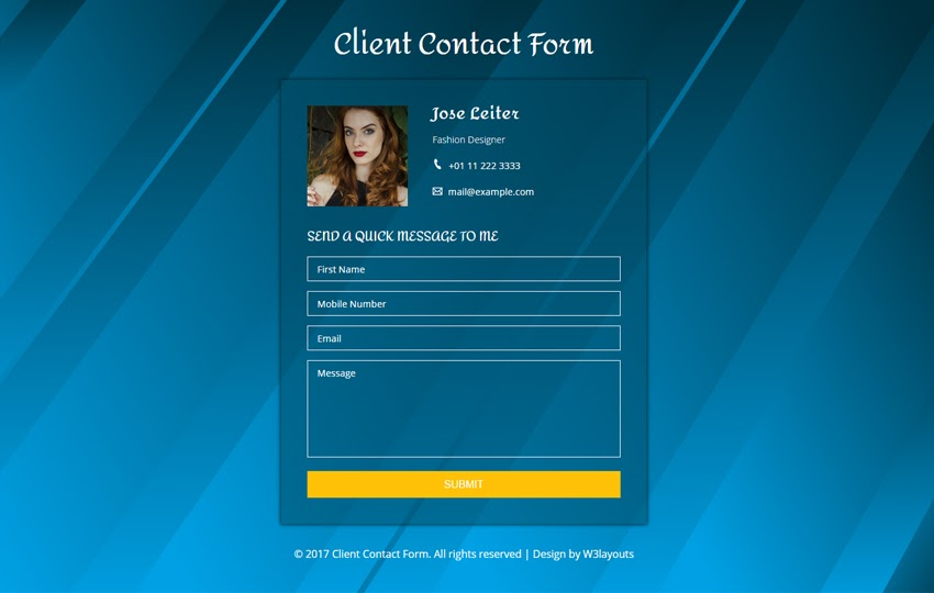Client Contact Form a Flat Responsive Template