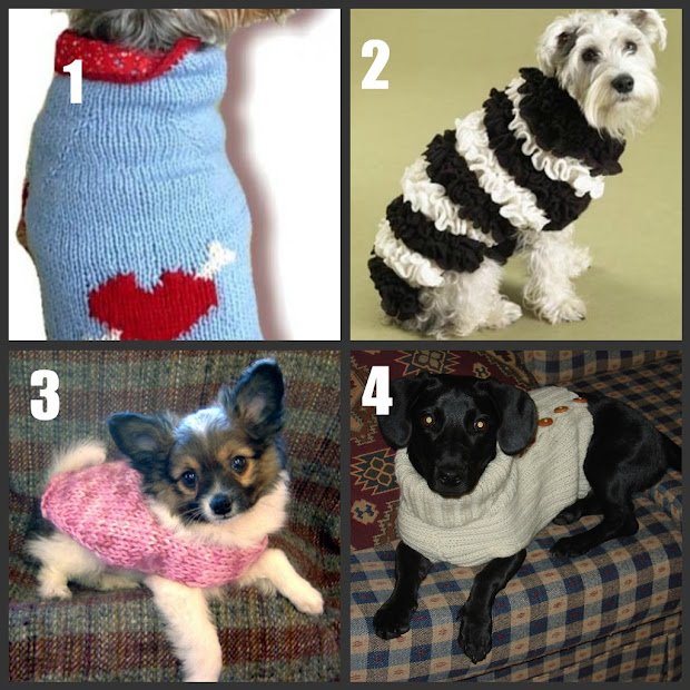 Free Patterns Crochet Knit Dog Clothes Easy