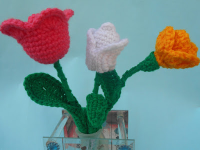 Tulip Crochet Flower