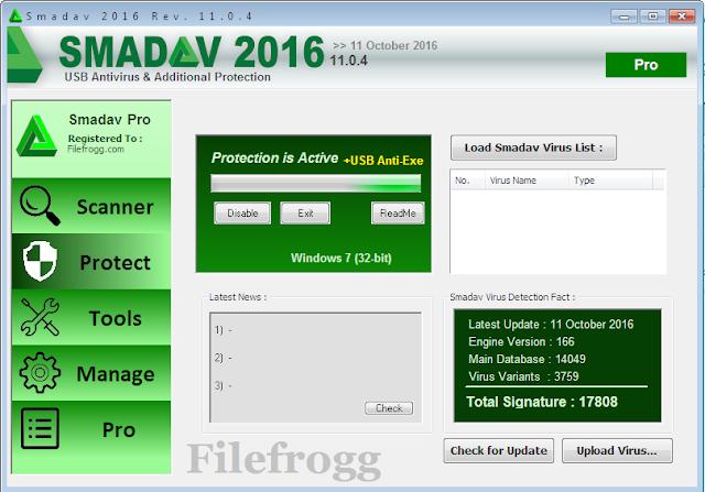 Smadav PRO 2016 Rev 11.0.4 Full Keygen Terbaru