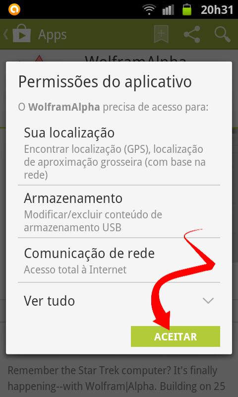 Permitir a instalação do app