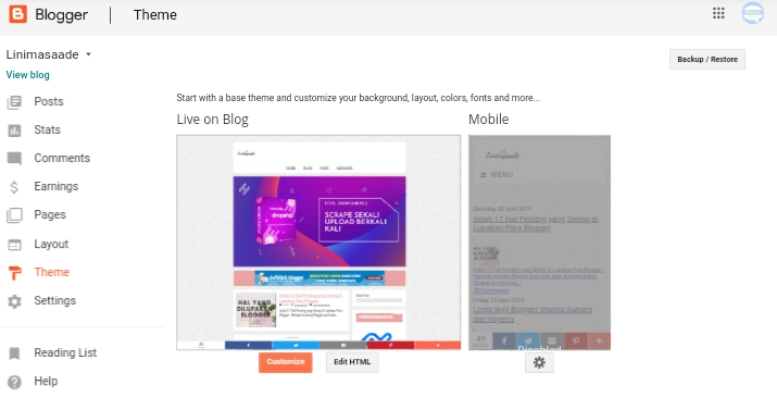 Cara Mudah Mengubah Template Bawaan Blogger 100% Work