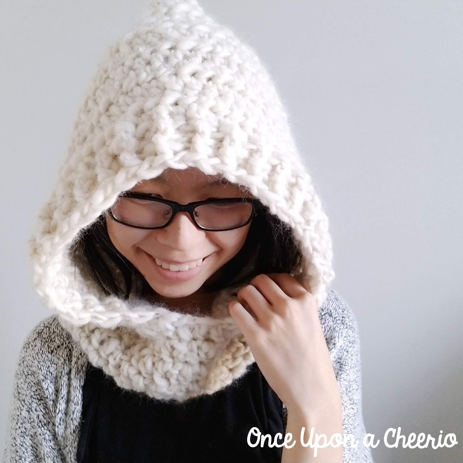 Through Thick and Thin Hooded Scarf FREE Crochet Pattern