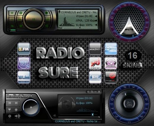 radio sure pro 2 portable skins personal pc. Black Bedroom Furniture Sets. Home Design Ideas