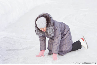 falling in ice skating