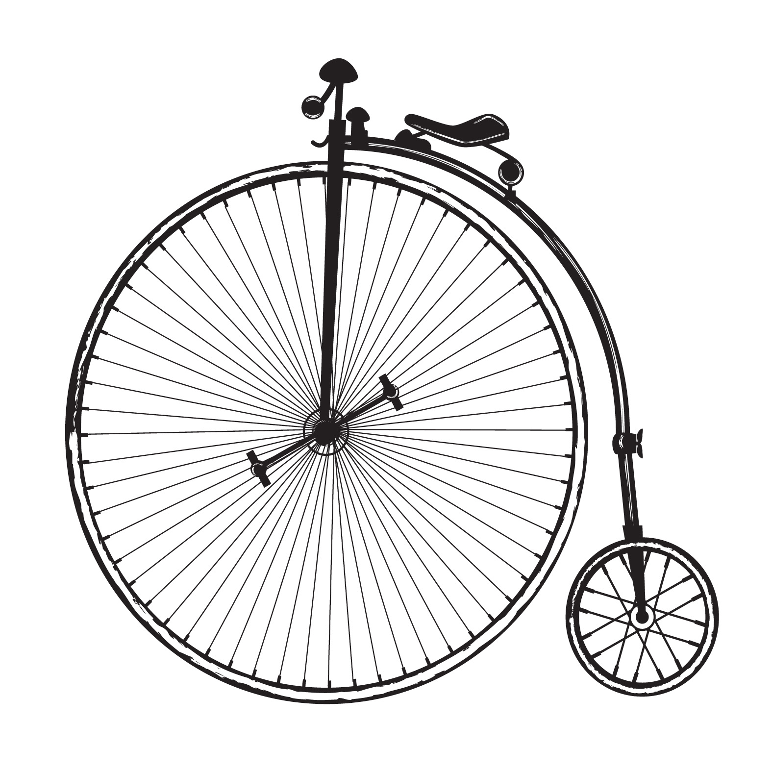 This is a photo of Astounding Bike Wheel Drawing