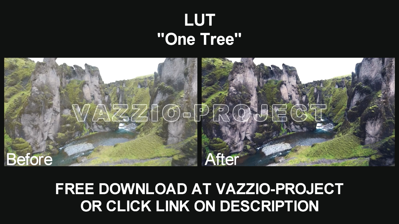 LUT Preset - One Tree Free Download for Sony Vegas, After