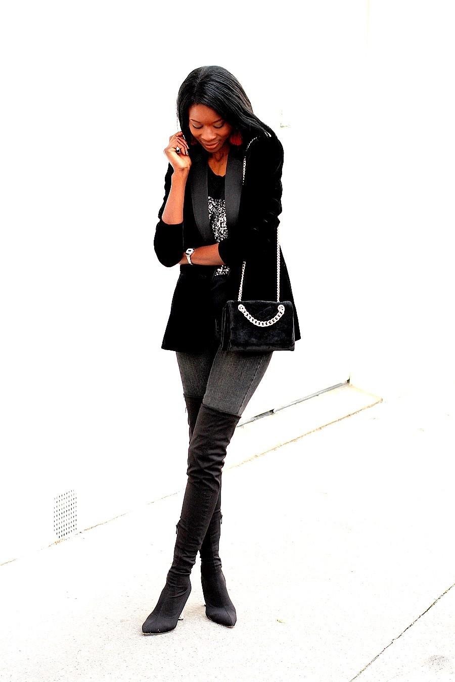 idee-look-fetes-jeans-cuissardes-blazer-velours