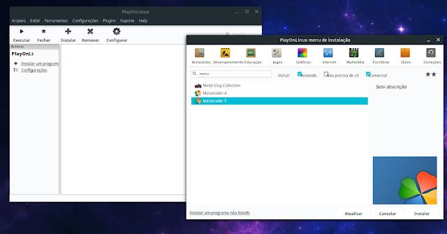 Instalando o MetaTrader no Linux
