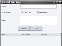 Contoh Membuat JRadioButton pada Java Swing
