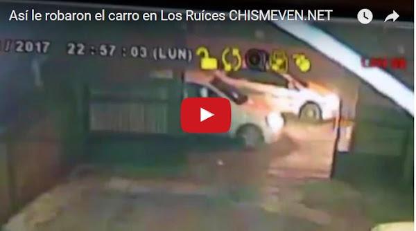 Así le robaron el carro en Los Ruices frente a VTV