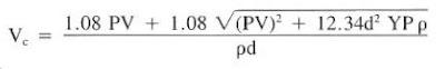 drill string fluid velocity