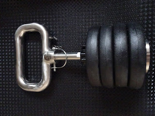 kettle bell stacked with weights