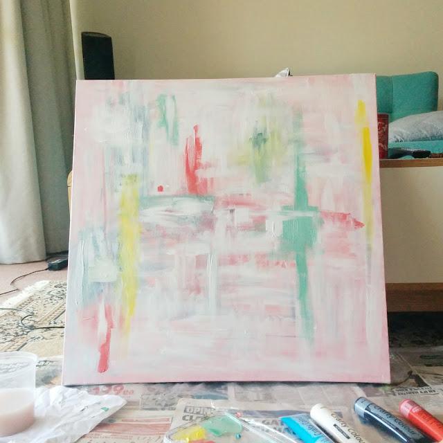Ini kanvas pertama saya setelah saya timpa. Sebelumnya lebih jelek lagi hahaha