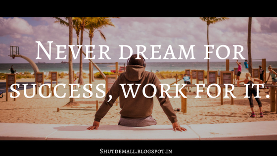 dreaming about success