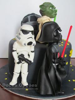 Bolo de aniversário Star Wars bragança