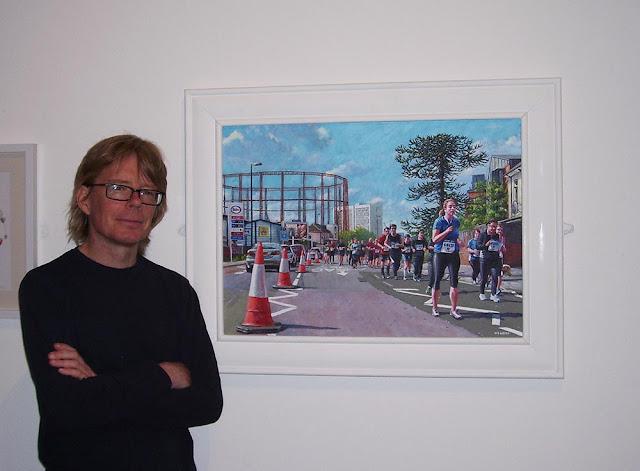 Davey painting ABP art marathon running
