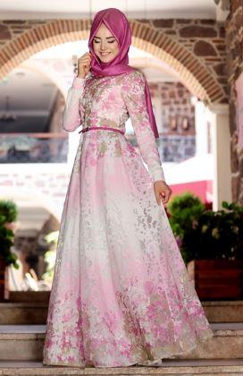 35+ Inspirasi Model Gaun Pesta Muslim Modern 2018