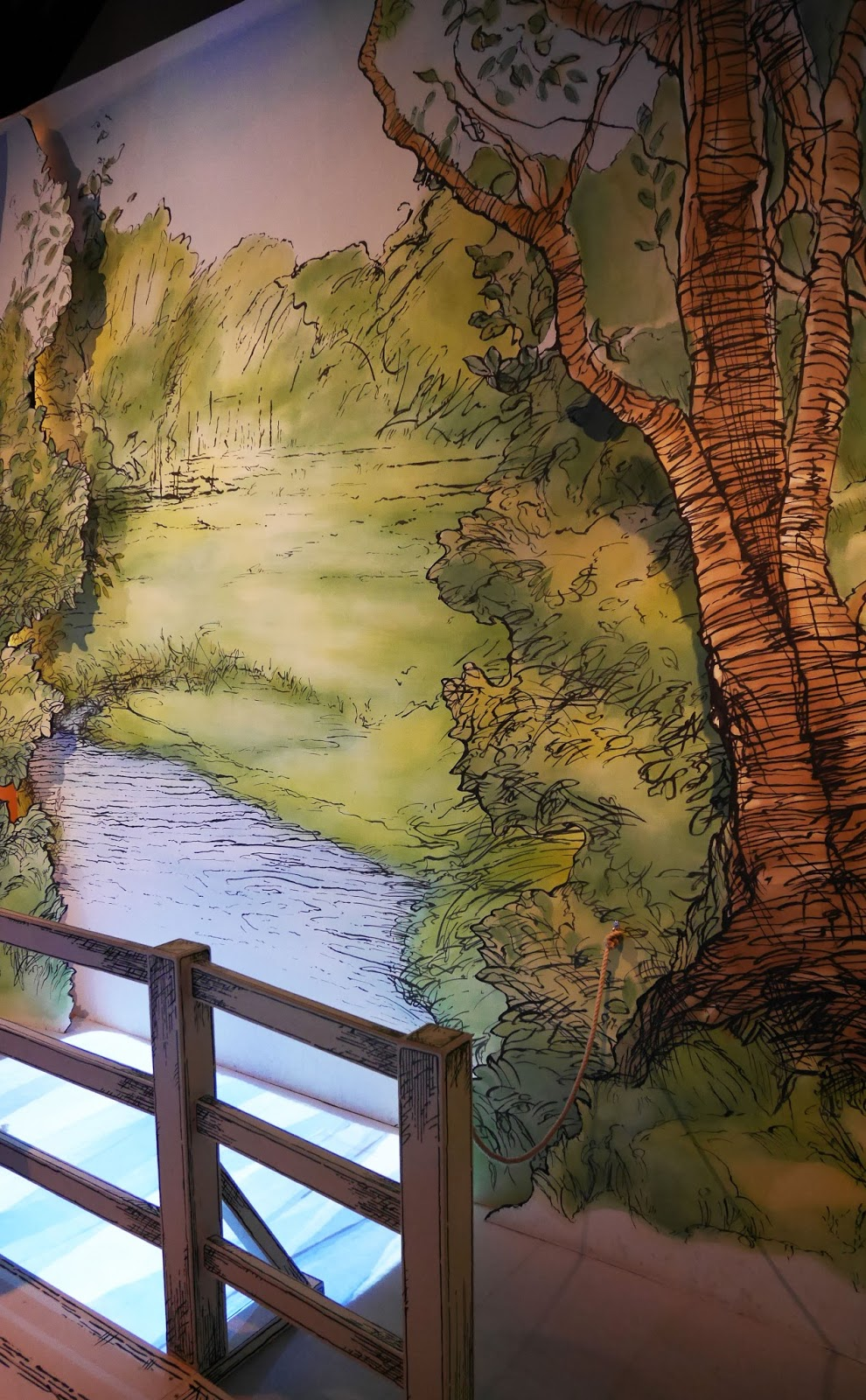 Installations and artwork at the Winnie the Pooh: Exploring a Classic exhibition, London