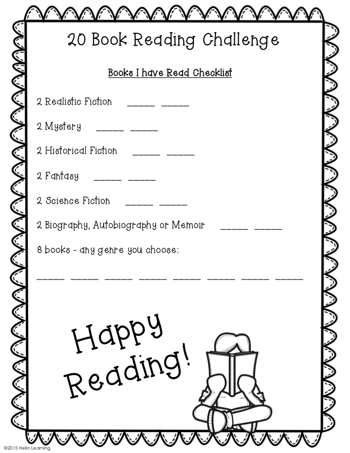 Hello Learning!: 20 Book Reading Challenge