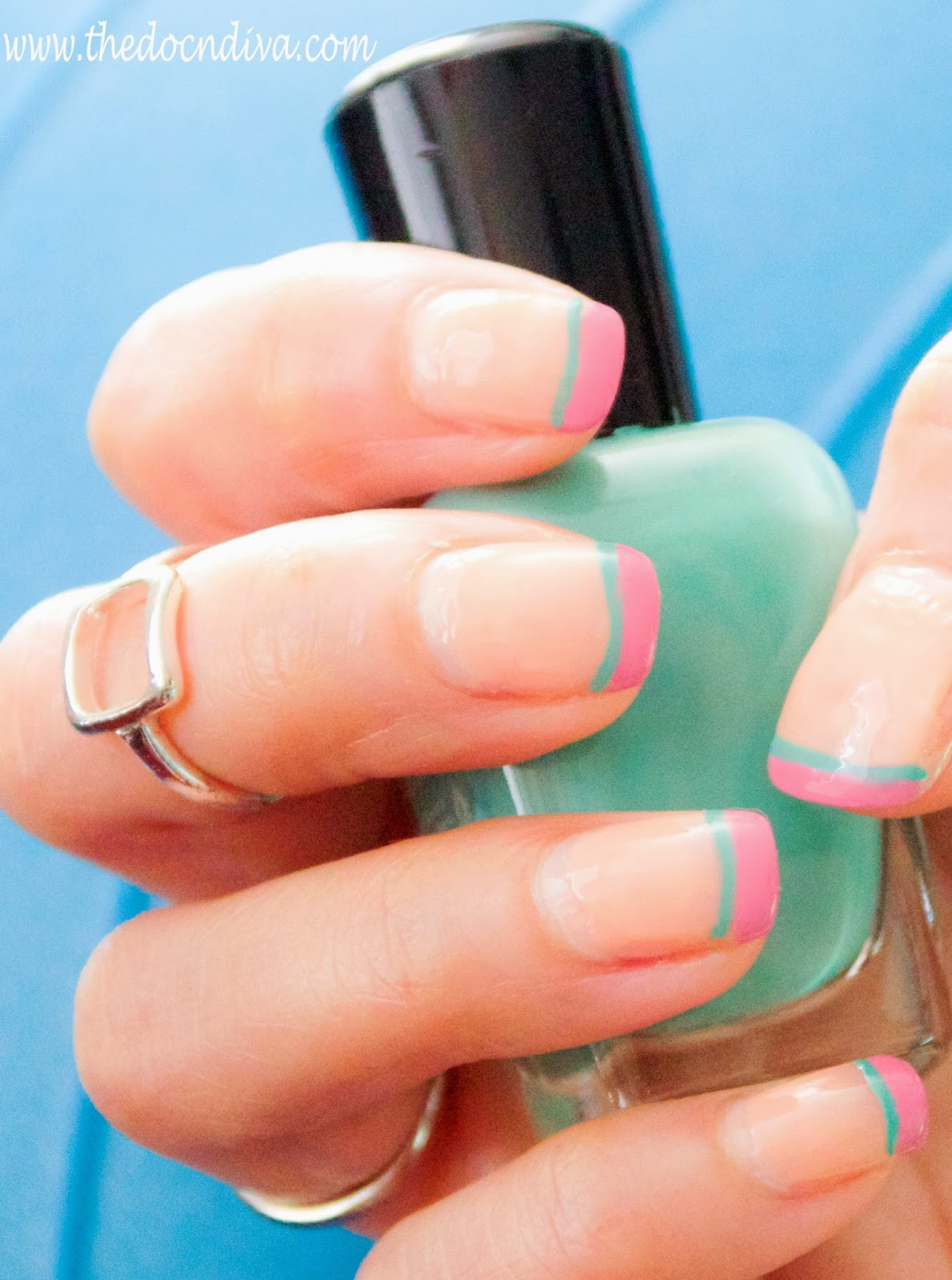 Spring 2015 Nail-trend: How To Do Two Two-toned French Tip