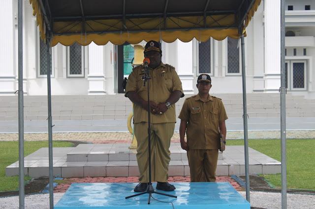Isaias Douw Pimpin Apel Gabungan Awal Bulan Maret 2020 di Kabupaten Nabire