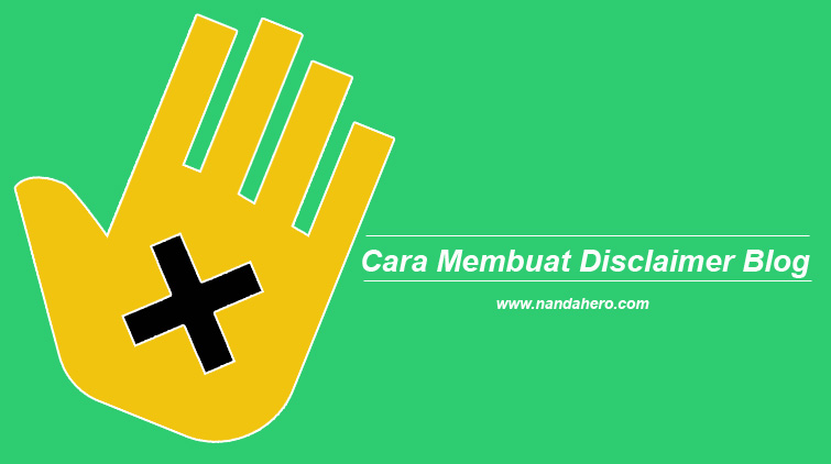 cara membuat disclaimer blog
