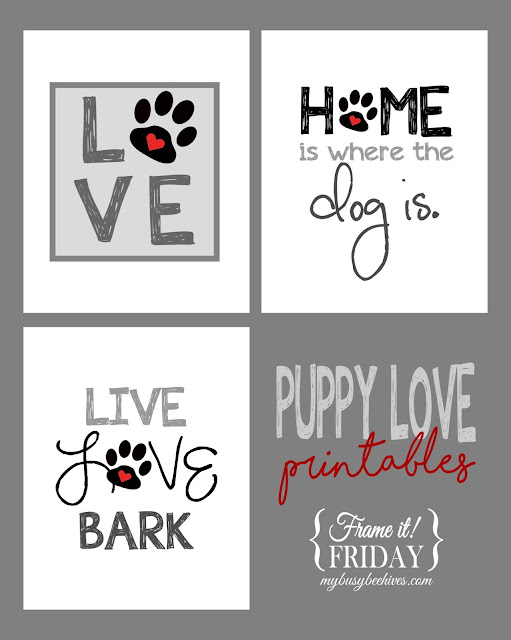 Puppy Love... a trio of free printables