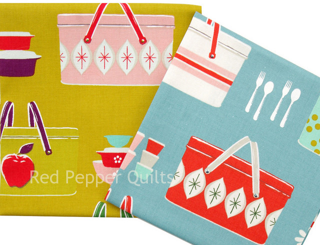 Picnic by Melody Miller ~ Picnic Baskets | Red Pepper Quilts 2015